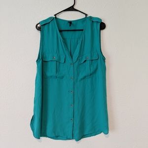 ☕Maurice's sleeveless button up size L